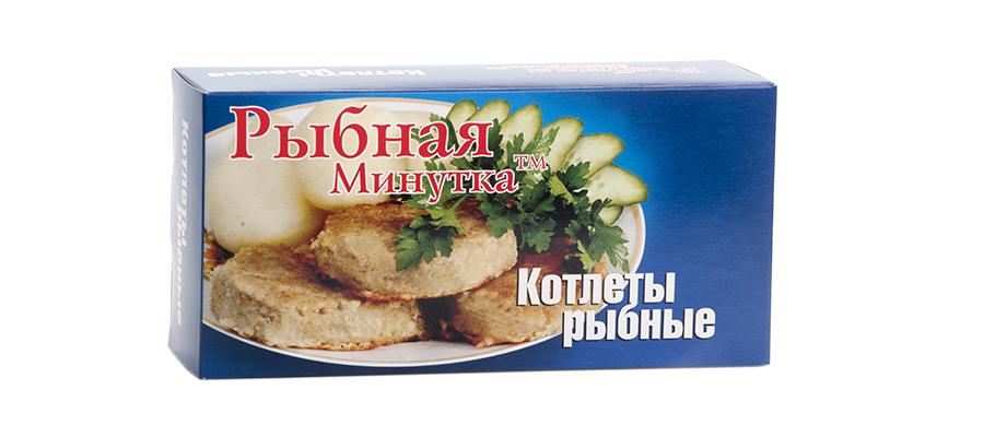 Котлеты рыбные «Рыбная Минутка» (ТМ) 660г